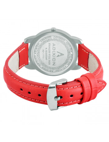 ADIXION 2480SL02 New Stainless Steel watch with Genuine Leather Strep. Watch